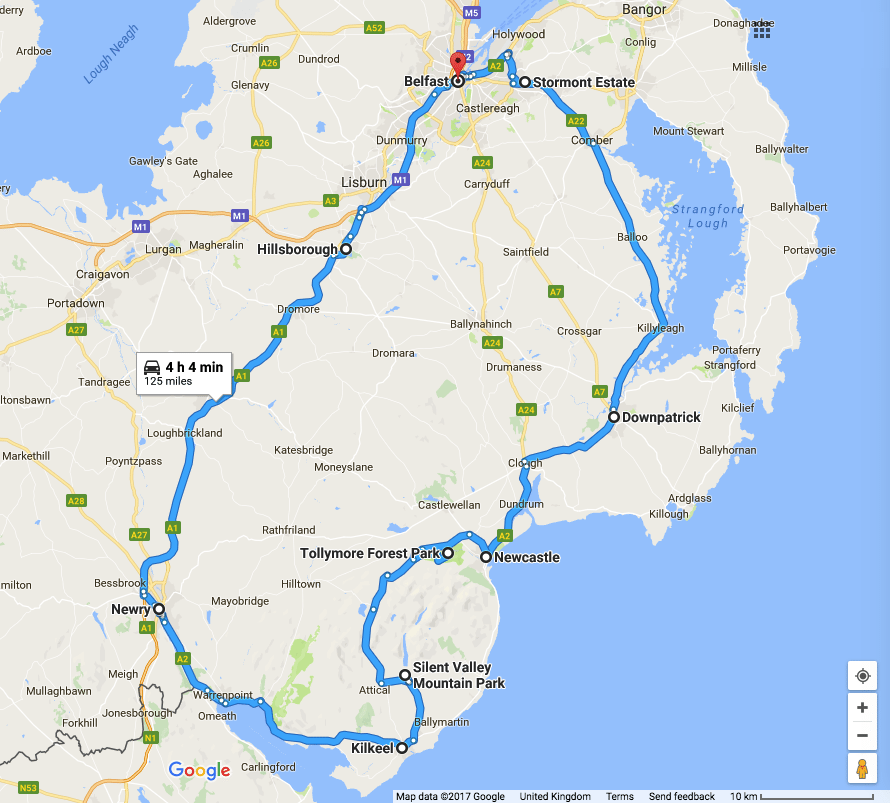 the mourne mountains driving route