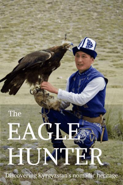 Eagle hunter pin