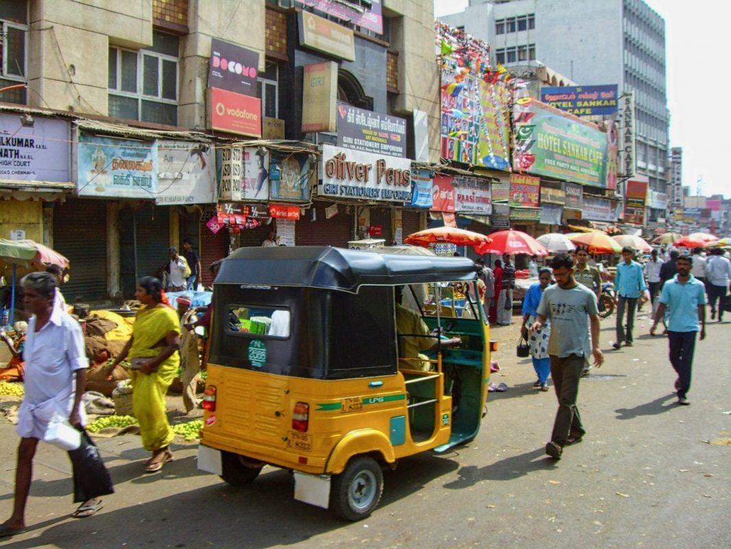 Visit Tamil Nadu: A busy street in Chennai
